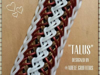 "New ""Talus"" Rainbow Loom Bracelet.How To Tutorial"