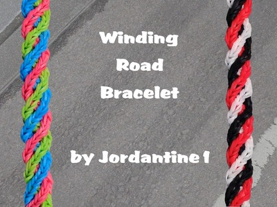 New Winding Road Bracelet - Rainbow Loom or Monster Tail - Crossing Fishtail