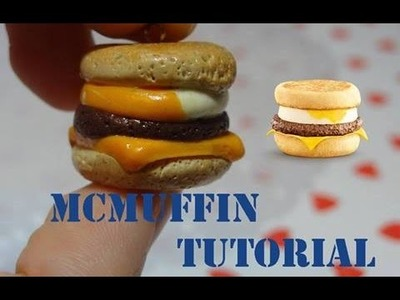 Polymer Clay McDonald's McMuffin Burger Tutorial