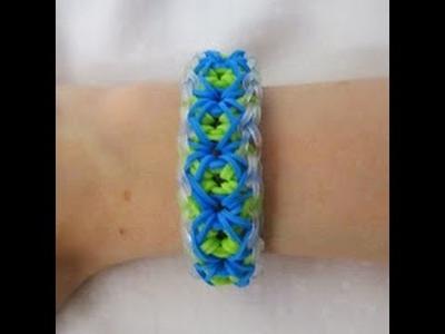 Rainbow Loom- How to make an Elegant X Bracelet (Original Pattern)