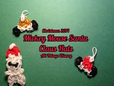 Rainbow Loom Mickey Mouse Santa Hat Charm.Santa Hat Charm: Christmas 2014