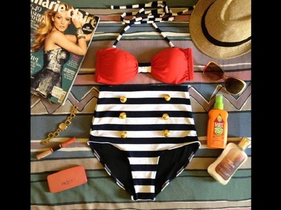 Sexy Retro and Vintage High Waist Swimwear, Bikinis and Swimsuits