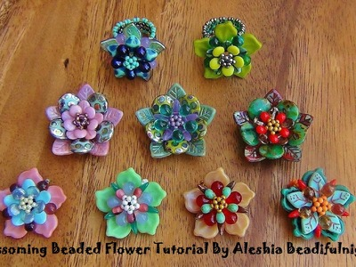 Blossoming Beaded Flower Tutorial