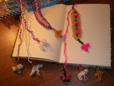 Bookmark with Charms Rainbow Loom Project