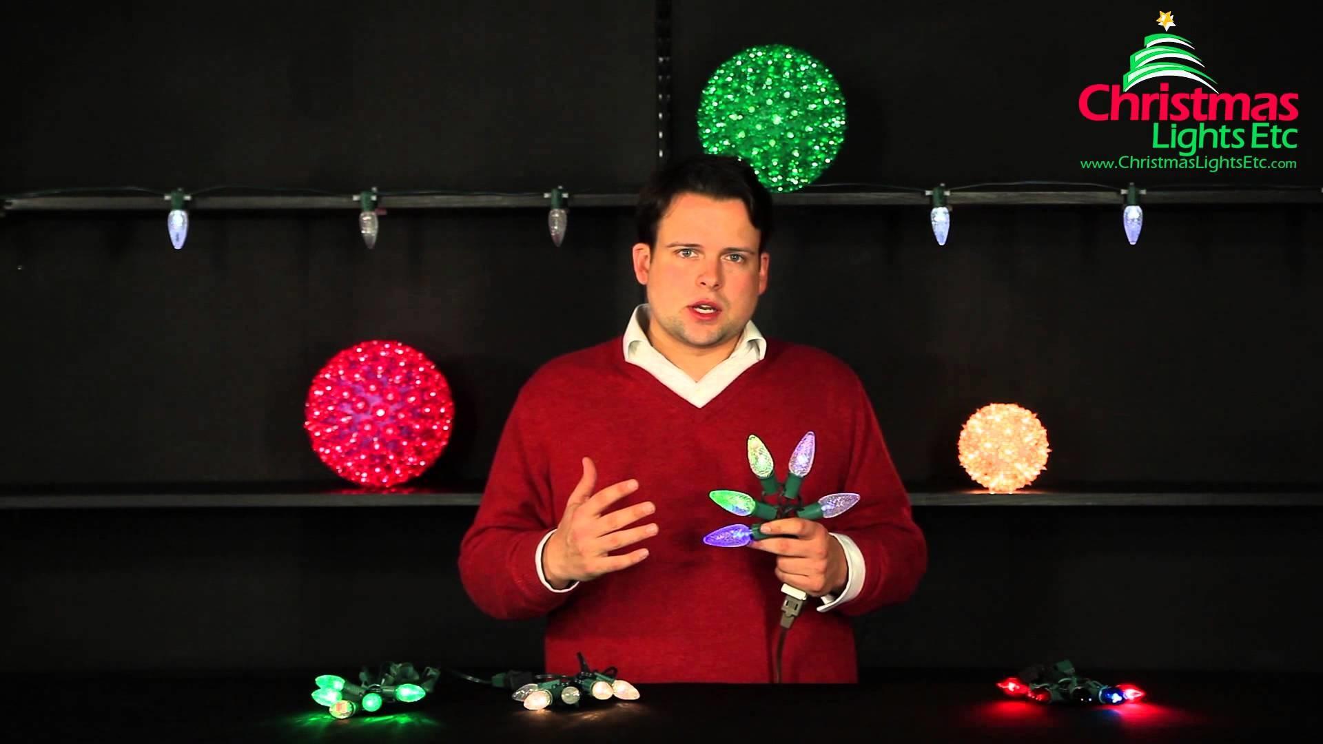 Christmas Light Decorating Ideas: Twinkle Christmas Lights and Color Change Lights