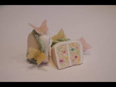 Confetti Cake Tutorial, Miniature Food Tutorial, Polymer Clay Food