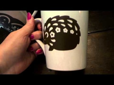 Craft Sale Ideas: Decorate Coffee Mugs w: Vinyl & Silhouette or Cricut