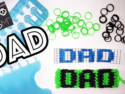 Dad Charm on Rainbow Loom or Alpha Loom