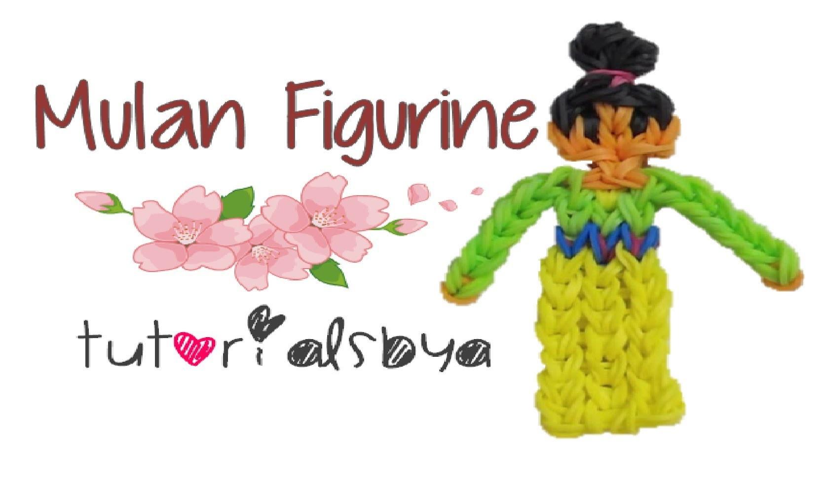 {Disney Princess Series} Mulan Rainbow Loom Figurine Tutorial- ORIGINAL