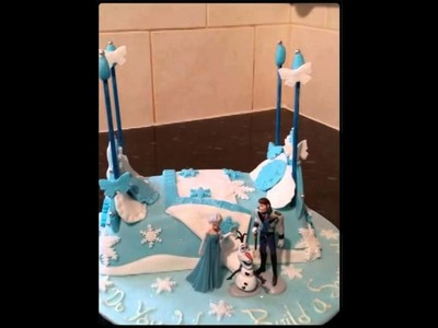 Disney's Frozen Elsa's Bed Cake my creation  (Created with