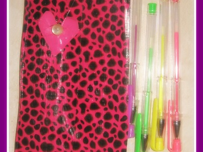 DIY Duct Tape Planner.Agenda Book- How to Organize a Planner. Agenda with Dollar Store Supplies