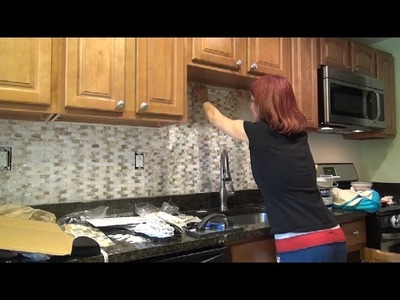 DIY Kitchen Backsplash Installation - Mother of Pearl Tile Backsplash How To