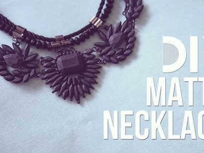 ✂ DIY Matte Spray Paint Necklace