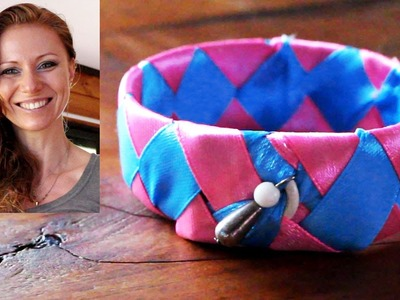 DIY recycling crafts - How to make a bracelet from plastic bottle