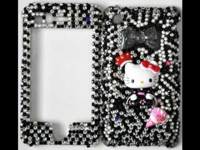 Girlicious DIY Swarovski Crystal Phone cases Hello Kitty