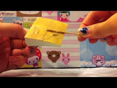 Homemade squishy cake slice tutorial