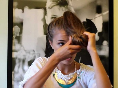 How to create a sock bun hairstyle