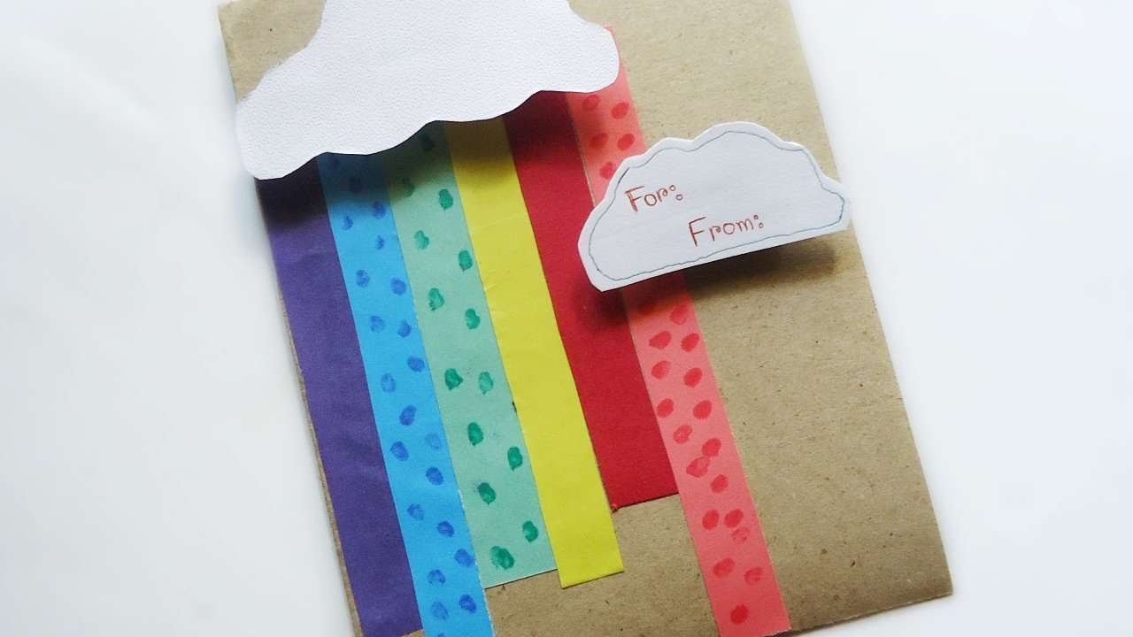 How To Make A Summer Holiday Rainbow Card - DIY  Tutorial - Guidecentral