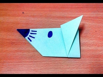 How to make an origami mouse face step by step.