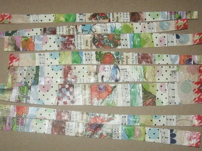 How to make collaged washi tape with painted papers, napkins and book pages. DIY washi tape