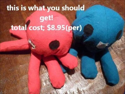 How to make; Homestuck Squiddles Plushies