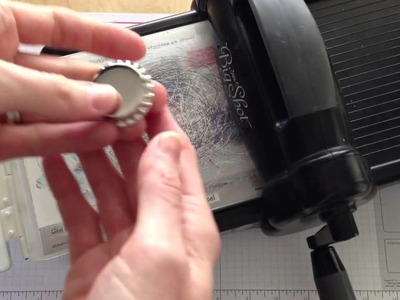 How to Smash a Stampin' Up! Soda Pop Top (bottle cap) using the Big Shot
