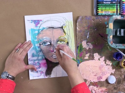 Learn to Paint Artistic Faces with Dina Wakley