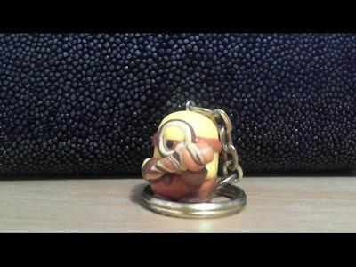 Let's make cute Stuart caveman Minion polymer clay keychain!