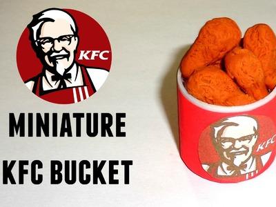 Miniature KFC Bucket - DIY LPS Crafts & Doll Crafts