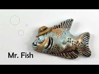 Mr. Fish (elegant fish ;) ) - polymer clay TUTORIAL