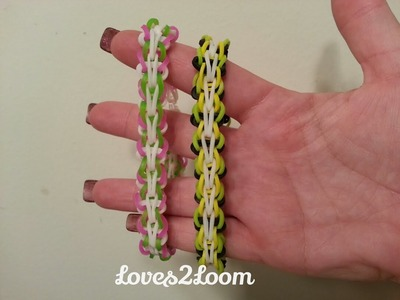 "New ""Butterfly Single"" Rainbow Loom Bracelet.How To Tutorial"
