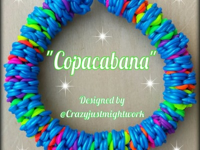 New* Copacabana Rainbow Loom Bracelet.How To Tutorial