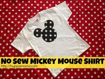 No Sew Mickey Mouse Shirt #disneyside