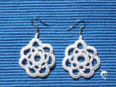Organic and hand-made. crocheted earrings, Ohrringe gehäkelt - de.dawanda.com.shop.BeautifulHands.