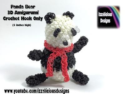 Rainbow Loom 3D Panda Bear Amigurumi.Loomigurumi Figure.Doll.Toy - Hook Only Loomless (Loom-less)
