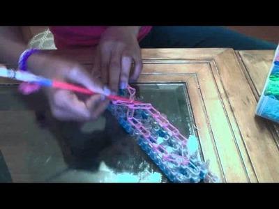 Rainbow Loom Breast Cancer Charm!!
