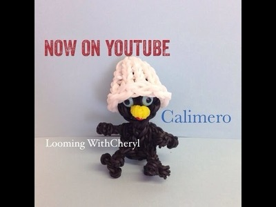 Rainbow Loom Calimero - Black Chicken with egg shell - Looming WithCheryl