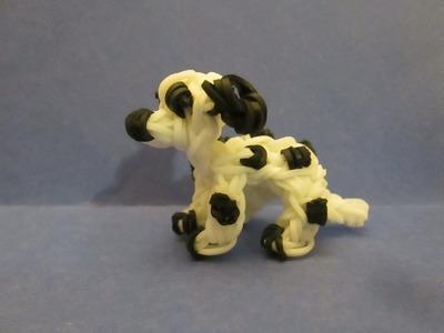 Rainbow Loom Dalmatian Dog or Puppy Charm. 3-D