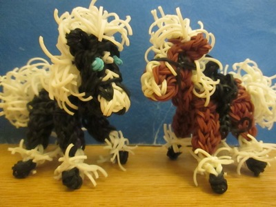 Rainbow Loom Horse or Pony Charm: Clydesdale