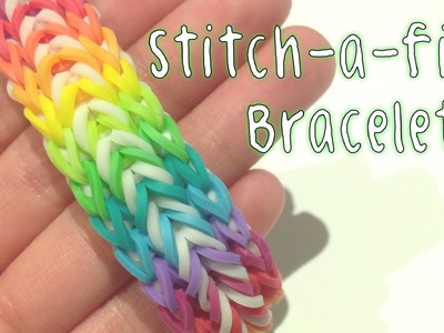 Rainbow Loom - Original Design : Stitch-a-fish | Monster Tail Tutorial