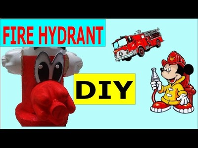 Recycled Projects for Kids: How to Make a Fire Hydrant out of Plastic Bottles