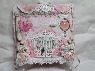 Shabby Chic Gate Cards - Lemon Craft House of Roses and Craft and You Design