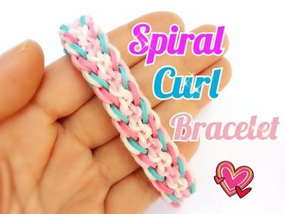 Spiral Curl Rainbow Loom Bracelet Tutorial ~ How To