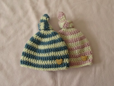 VERY EASY crochet baby knot hat. beanie - crochet hat for beginners
