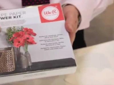 We R Memory Keepers - Crepe Paper Flower Kit - SPC 2014