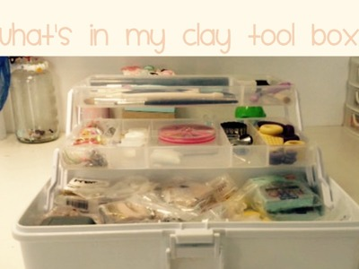 What's In My Clay Tool Box? Polymer Clay storage Tour