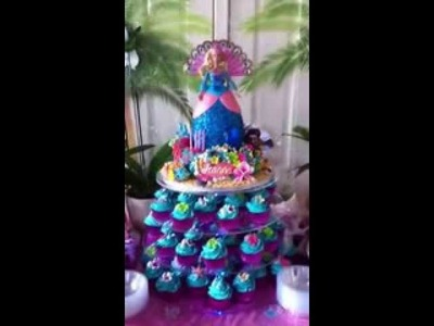 Barbie Island Princess Cake & Cupcakes Pt.1