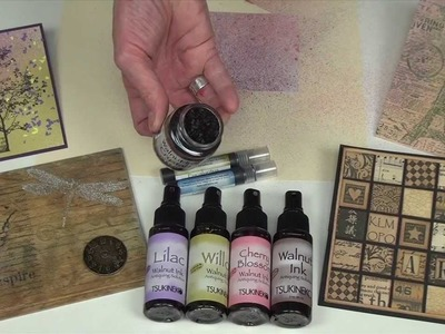 Beautiful Aged Paper Effects with Walnut Ink by IMAGINE Crafts