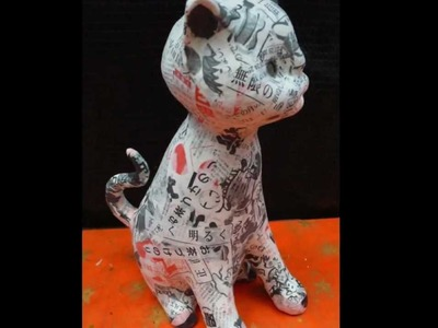 Cat Paper Clay Doll