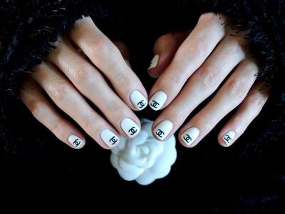 ❀ Chanel Inspired Nail Tutorial ❀ DIY
